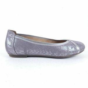 Vionic Womens Caroll Ballet Flats Shoes Metallic